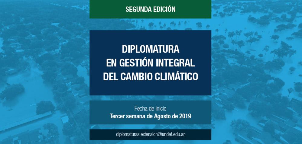 Diplomatura en gestión integral del cambio climático